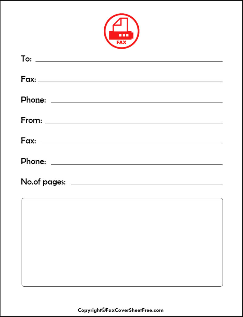 basic fax cover letter