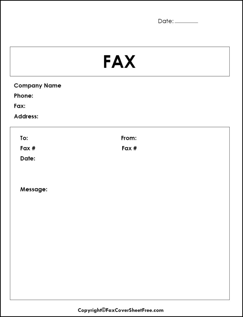 Fax Cover Sheet Word Docs