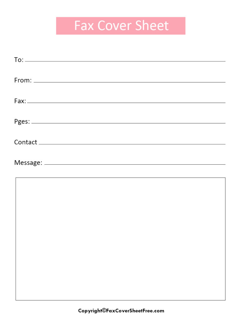 Personal Fax Cover LETTER