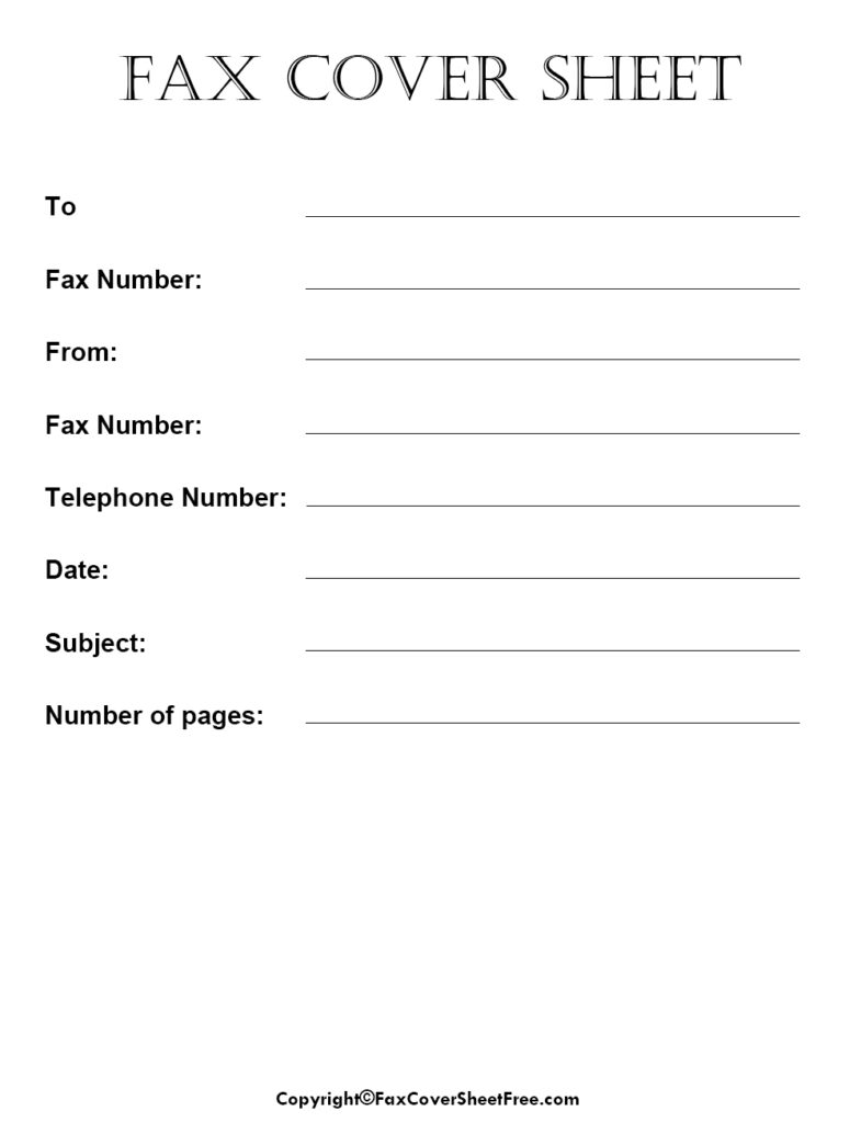 Sample Professional Fax Cover Sheet